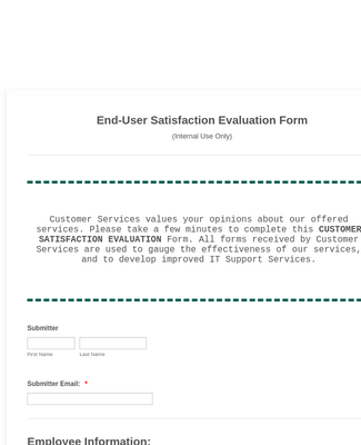 Evaluation Form (Internal)csat