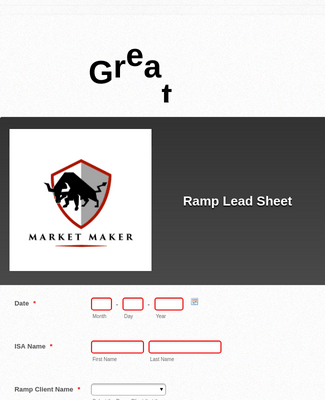 NAEA Ramp Lead Sheet