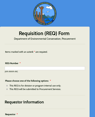 Requisition (REQ) Form - DEC Procurement Services