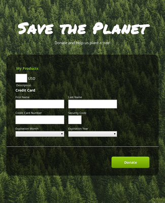 First Data Online Donation Form