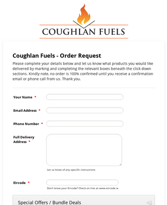 Coughlan Fuels - Order Request