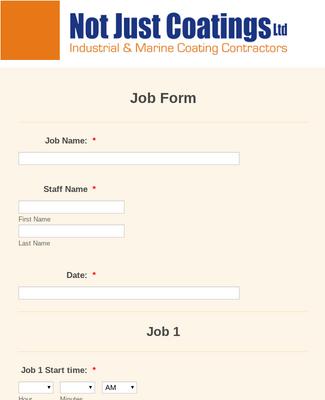 Job Form