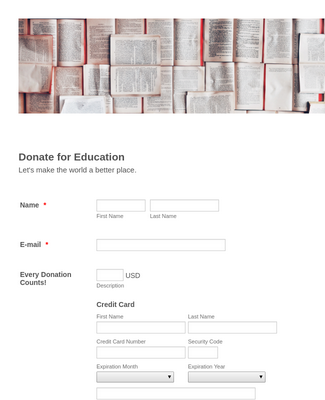 CardConnect Donate for Education Payment Form