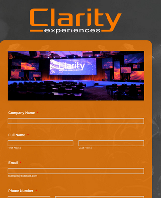 Clarity Experiences Event Profile Form