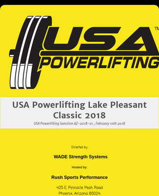 Powerlifting registration