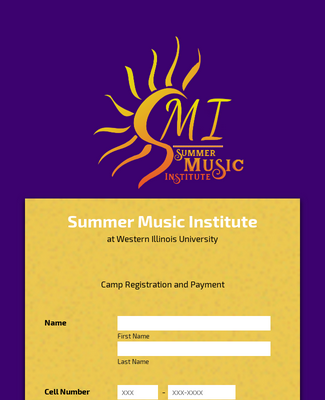 Summer Music Camp Registration