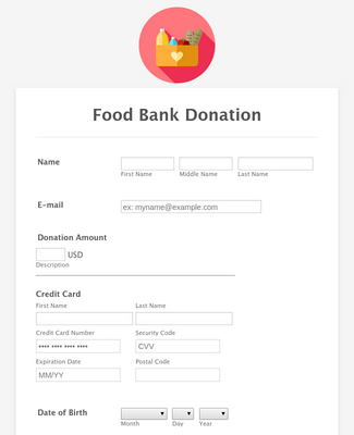 Square Food Bank Donation