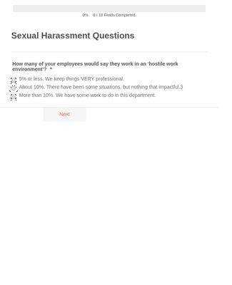 Sexual Harassment Survey