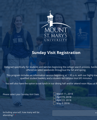 Spring 2018 Sunday Visit Registration