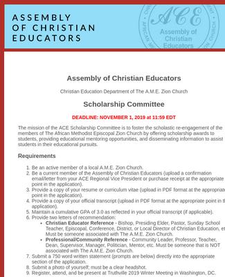 ACE Scholars Application