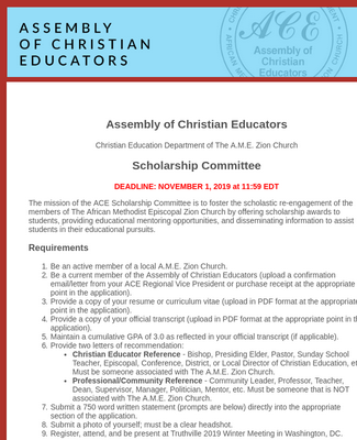 ACE Scholars Application