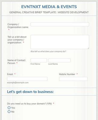 Your Web Design Client Questionnaire Form Template Jotform
