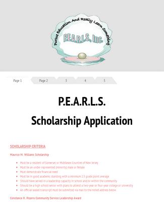 PEARLS Scholarship App