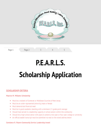 PEARLS Scholarship App