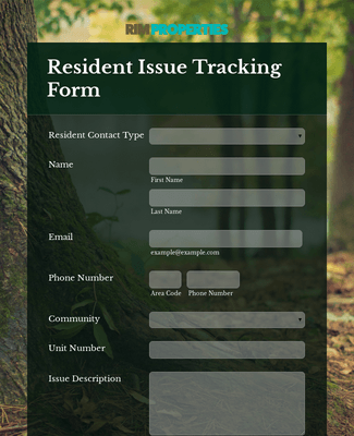 Resident Issue Tracking Form