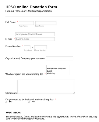 HPSO Donation Form