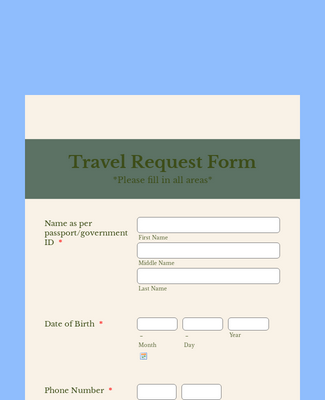 Packard Foundation Reunion 2018 Travel Request form