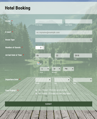 Forest Theme-Hotel Booking Form-2018
