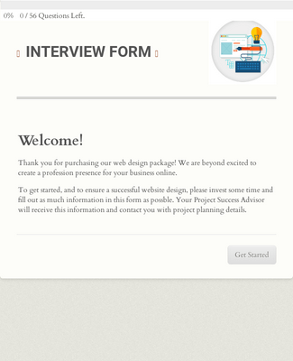Web Design Interview Form