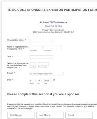 Sponsorship Forms Form Templates Jotform