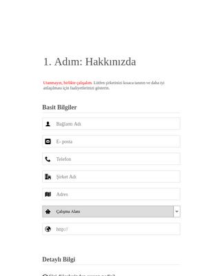 Şirket Profili Anket Formu