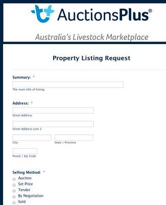 Property Listing Request