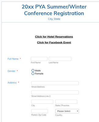 PYA Conference Template