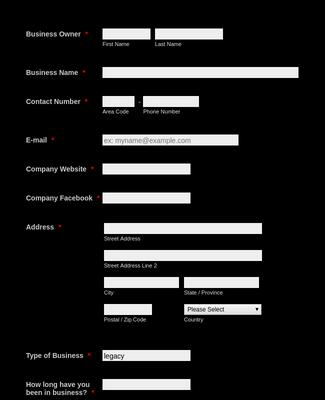 Dealer Registration Form efi