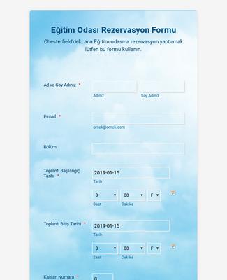 Eğitim Odası Rezervasyon Formu