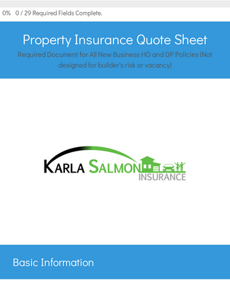 Property Quote Sheet