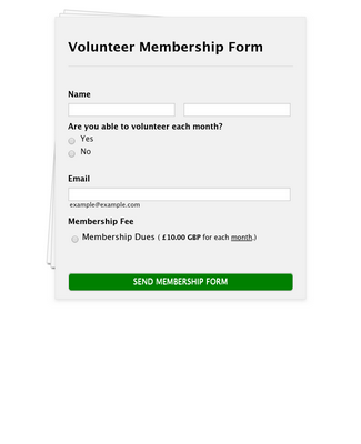 GoCardless Volunteer Membership Form