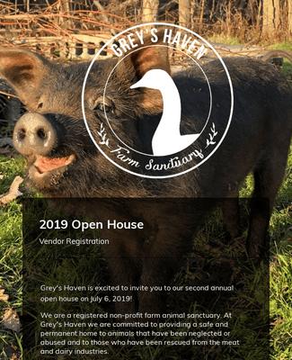2019 Grey's Haven ~ Vendor Application