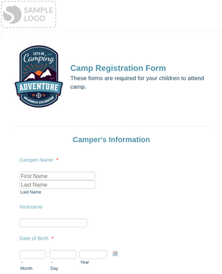 Swim Camp Registration Form