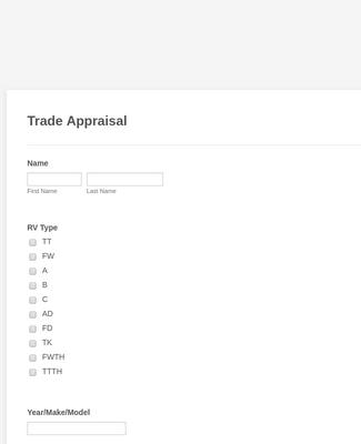 Trade Appraisal - CW