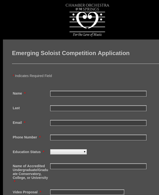 [Imported Form] Emerging Artist Competition Application