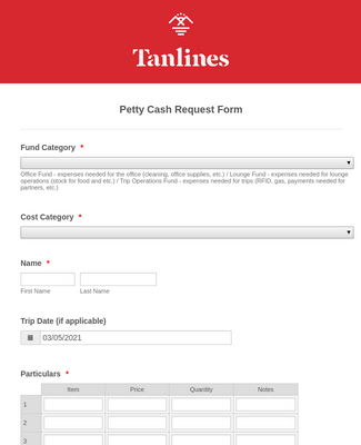 Funds Request Form