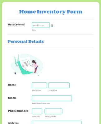 Home Inventory Form