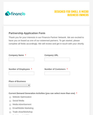 Partnership Application Form