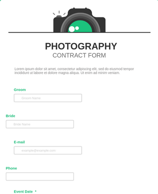 Photography Contract Form