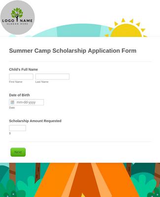 Summer Camp Scholarship Application Form