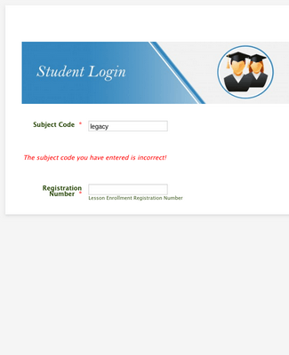 Students Login 011
