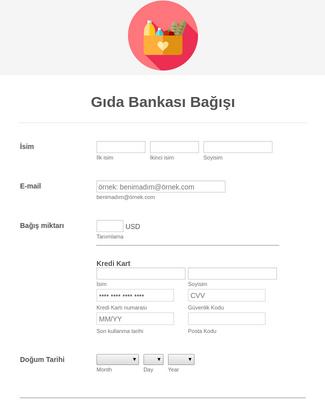 Online Gıda Bağış Formu