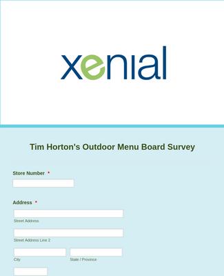 Tim Horton's ODMB Survey