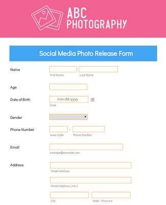 Social Media Photo Release Form