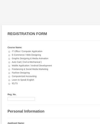 Registration Form Template Jotform