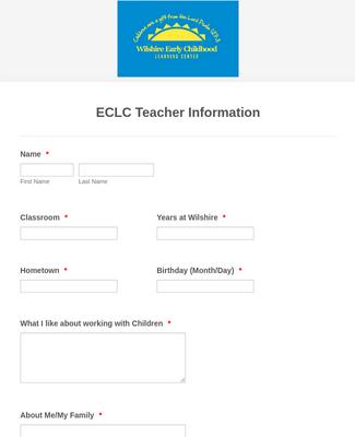 ECLC Teacher Information
