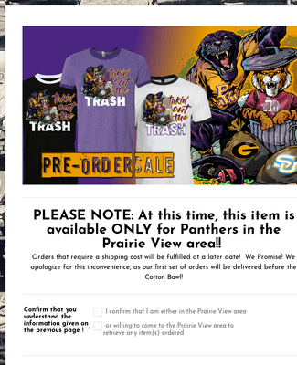 """""""Takin' Out the TRASH Tee""""   Pre-Order Form"""