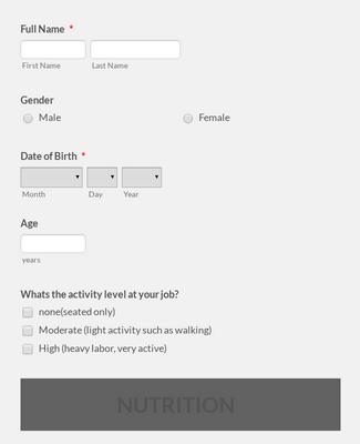 Wellness Consultation Questionnaire