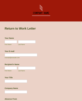 Return to Work Letter