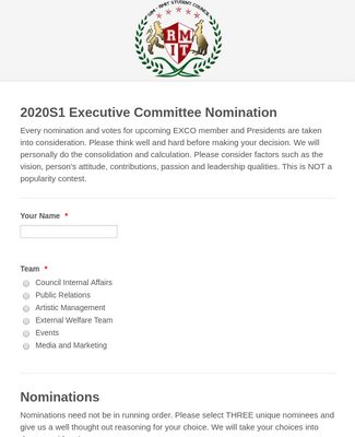 Committee Nomination Form